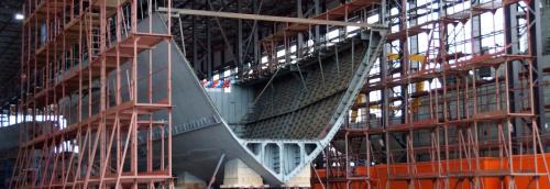 Строительство, ремонт и поисково-спасательное обеспечение надводных кораблей и подводных лодок